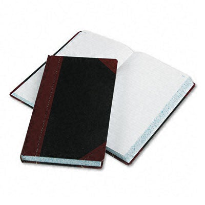Boorum & Pease Record/Account Book, Record Rule, Black/Red, 500 Pages, 14 1/8 x 8 5/8