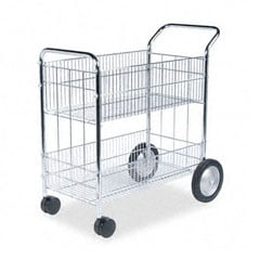 Fellowes Wire Mail Cart - 150 Folder Capacity