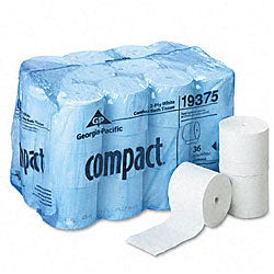 Georgia-Pacific Compact Coreless Two-Ply Bath Tissue - 36 Rolls/Carton