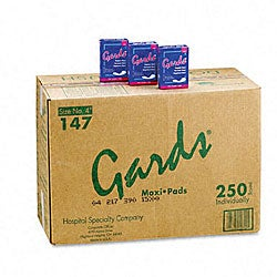 Gards Maxi Pads - #4 250 Individually Boxed Napkins/Carton