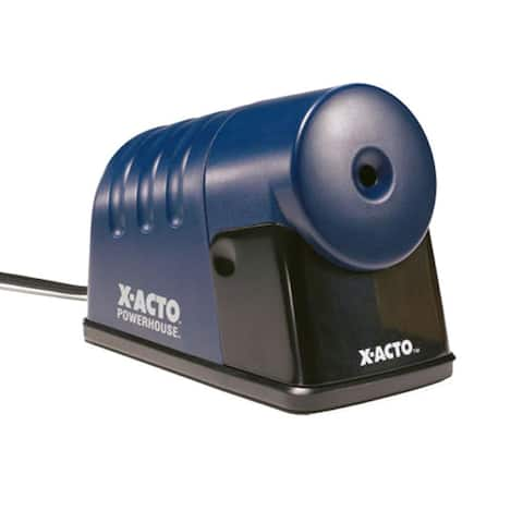 X-ACTO Powerhouse Desktop Electric Pencil Sharpener, Translucent Blue