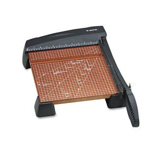 """X-ACTO Heavy-Duty Wood Base Guillotine Trimmer, 12 Sheets, 12"""" x 12"""""""