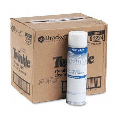 Twinkle Stainless Steel Cleaner and Polish - 12/Carton