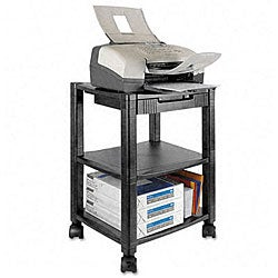 Kantek 3-shelf Black Mobile Printer Stand