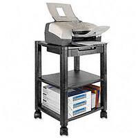 Kantek 3-shelf Black Mobile Printer Stand