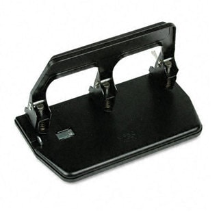 40-sheet Capacity Heavy-duty 3-hole Punch with Gel Pad Handle