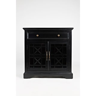 Black Spacious Wooden Storage Cabinet Accent Chest