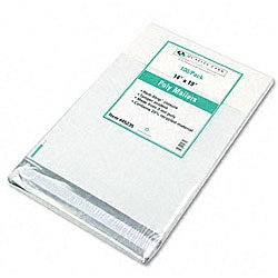 Recycled Jumbo Plain White Poly Mailers - 100/Pack