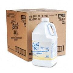 Lysol Brand I.C. Quaternary Disinfectant Cleaner - Gallon Bottle  (Pack of 4)