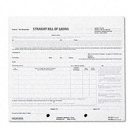 Rediform Bill of Lading Short Form, 7 x 8 1/2, Four-Part Carbonless, 250 Forms