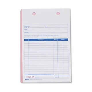 Sales Form for Registers, 5 1/2 x 8 1/2, Blue Print Three-Part, 500 Forms - White