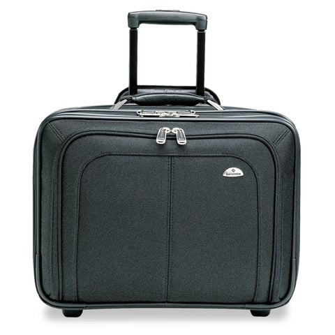 Samsonite Mobile Office Rolling Notebook Case, Nylon, 17 1/2 x 9 x 14, Black