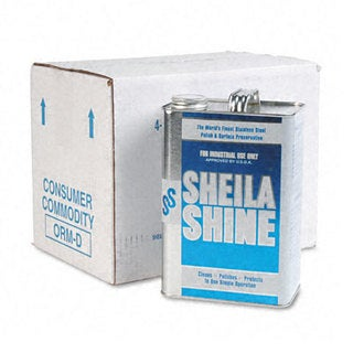 Sheila Shine Stainless Steel Cleaner & Polish - Gallon Can (Pack of 4)