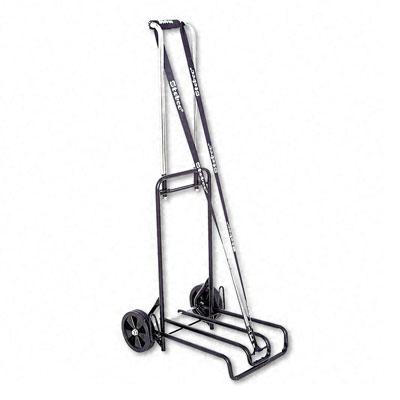 Luggage Cart, 250lb Cap, 12 1/4 x 13 Surface, Black/Chrome