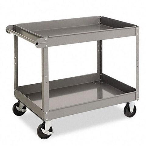 Tennsco Metal 2-shelf Cart