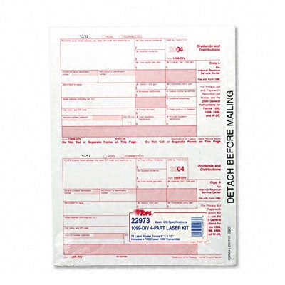 Report 1099 Tax Forms for Laser Printers - 75 Sets per Pack, Black