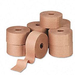 Reinforced Gummed Kraft Sealing Tape - 10 Rolls per Carton