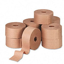 Reinforced Gummed Kraft Sealing Tape - 10 Rolls per Carton