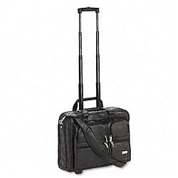 Solo Leather Rolling 16-inch Laptop Case