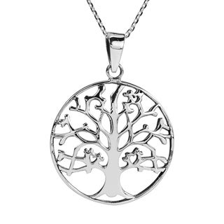 Handmade Beautiful Tree Of Life In Winter Sterling Silver Pendant Necklace Thailand