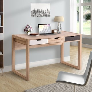 ModernLuxe Wood Writing Desk Study Room with Drawers