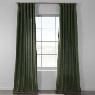 Link to Exclusive Fabrics Bark Weave Solid Cotton Curtain Similar Items in As Is