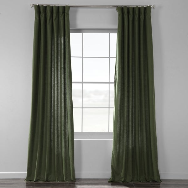 Exclusive Fabrics Bark Weave Solid Cotton Curtain. Opens flyout.