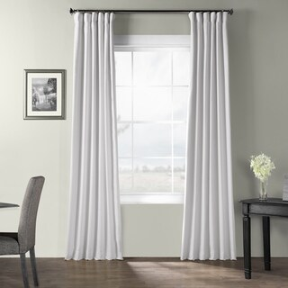 Exclusive Fabrics Bark Weave Solid Cotton Curtain