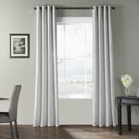 Exclusive Fabrics Bark Weave Solid Cotton Grommet Curtain
