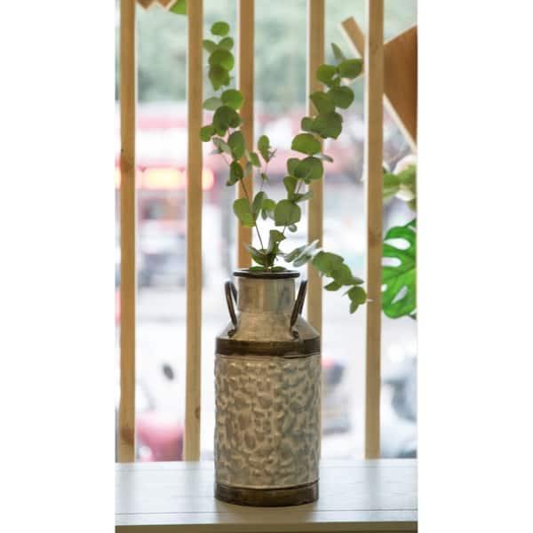 Rustic Farmhouse Galvanized Metal Milk Can Decoration Planter Vase On Sale Overstock 26950458