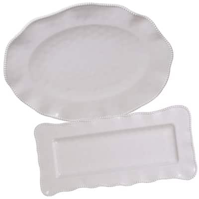 Certified International Perlette 2-piece Platter Serveware Set