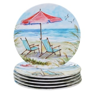 Certified International Ocean View 11-inch Dinner Plates, Set of 6