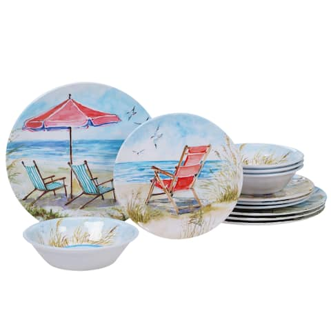 Certified International Ocean View 12-piece Dinnerware Set