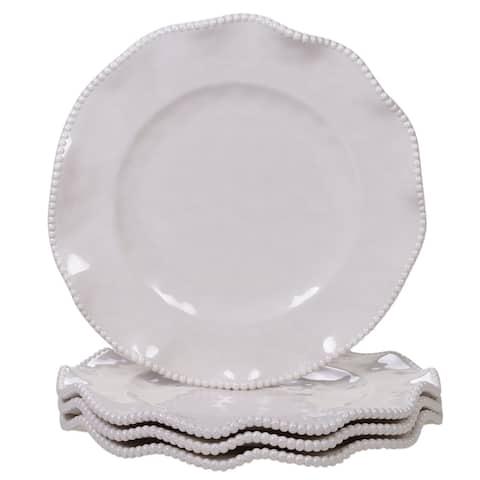 Certified International Perlette 11-inch Dinner Plates, Set of 4