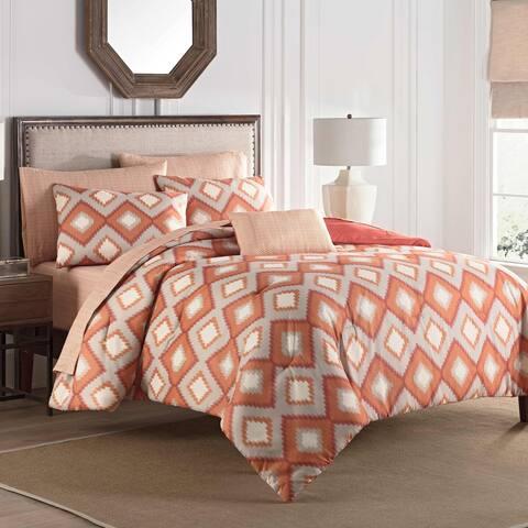 Porch & Den Kostel Orange 8-piece Comforter Set