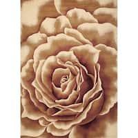 Porch & Den Salina Ivory Rose Pattern Area Rug