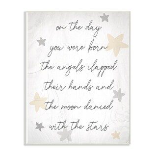 The Kids Room By Stupell On The Day You Were Born Neutral Yellow Wall Plaque Art, 10 x 15, Proudly Made in USA