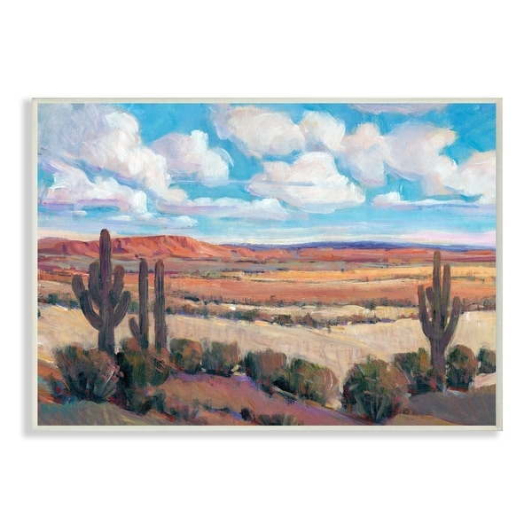 The Stupell Home Decor Savannah Desert Colorful Painterly Landscape Wall Plaque Art, 10 x 15, Proudly Made in USA