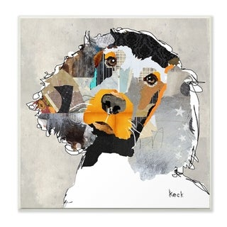 The Stupell Home Decor Paint Splatter Color Block Irish Setter Portrait Wall Plaque Art, 12 x 12, Proudly Made in USA - 12 x 12