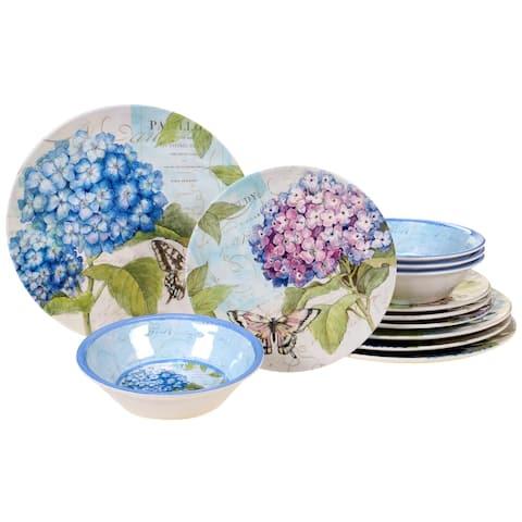 Certified International Hydrangea Garden 12-piece Dinnerware Set