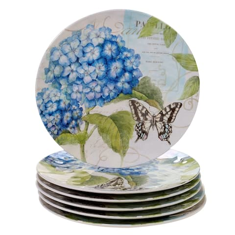 Certified International Hydrangea Garden Dinner Plates, Set of 6