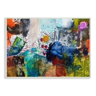 The Stupell Home Decor Bright Palette Mess with Dots Abstract Painting Wall Plaque Art, 10 x 15, Proudly Made in USA