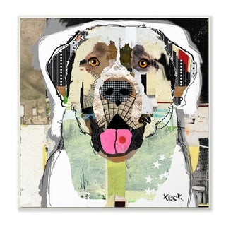 The Stupell Home Decor Color Block Anatolian Shepherd Portrait Wall Plaque Art, 12 x 12, Proudly Made in USA - 12 x 12