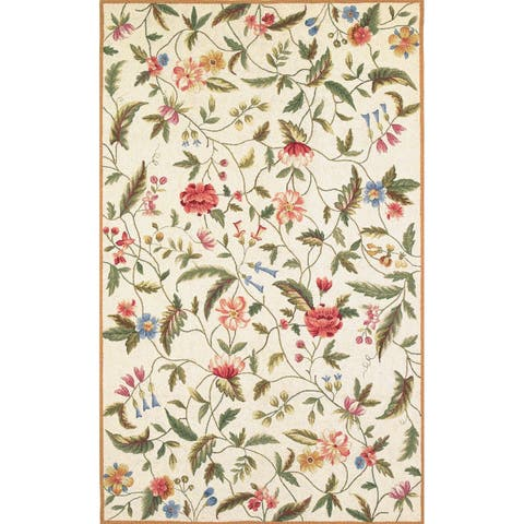 Domani Nantucket Ivory Floral Bloom Area Rug