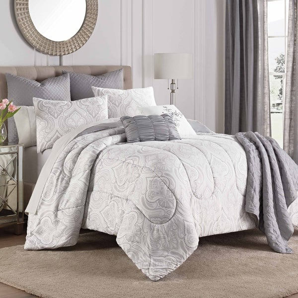 Martex Aria Gray 8-Piece Comforter Set
