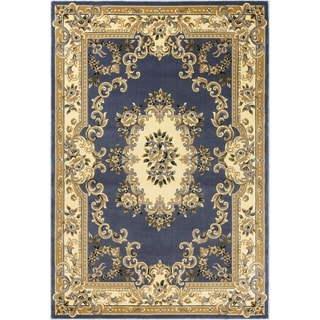 Copper Grove Korneuberg Blue Traditional Medallion Area Rug
