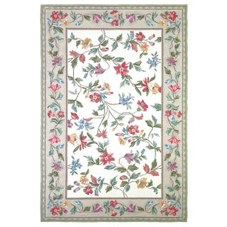 Domani Nantucket Classic Ivory Floral Area Rug