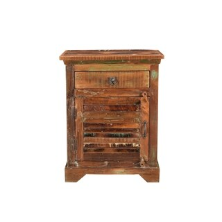 Aiden Collection - 1 Drawer 1 Door Shutter Nightstand-Natural