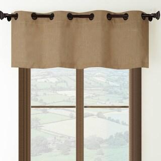 Burlap Grommet Top Curtain Valance