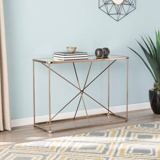 Silver Orchid Holm Art Deco Mirrored Console Table
